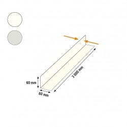 Cornière acier 60x60 blanche